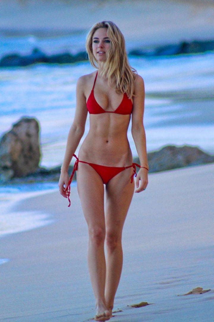 Kimberley Garner in red bikini