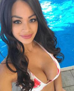 Latino babe looking hot